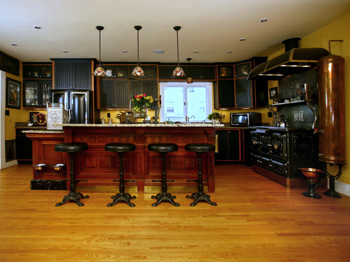Steampunk kitchen for Victorian steampunk decor